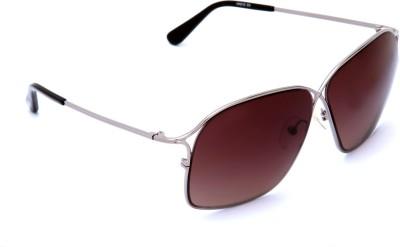 Van Heusen VH212 C3 Rectangular Sunglasses(Brown)
