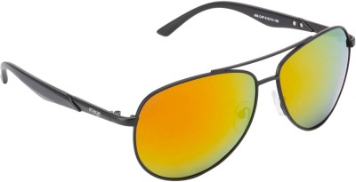 Image S486-C4P Aviator Sunglasses(Golden, Red) at flipkart