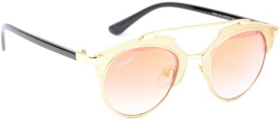 Amaze AM1012 Round Sunglasses(Orange)