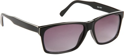 Cristiano Ronnie Black & White Rectangular Sunglasses