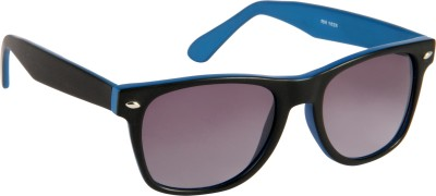 Cristiano Ronnie Matt. Black with blue sides & gradient lenses Wayfarer Sunglasses