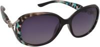 Aks ss096 Oval Sunglasses(Grey)