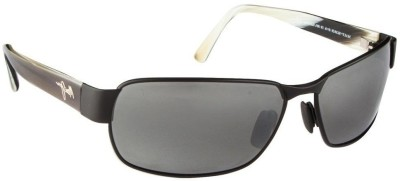 Maui Jim Black Coral Rectangular Sunglasses