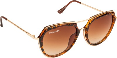Danny Daze D-2858-C3 Round Sunglasses(Brown)