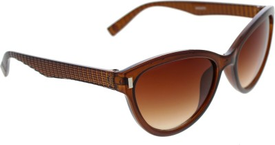 Vast WOMENS _3075_PIN_CATEYE_BROWN_GLARES Wayfarer Sunglasses(Grey)