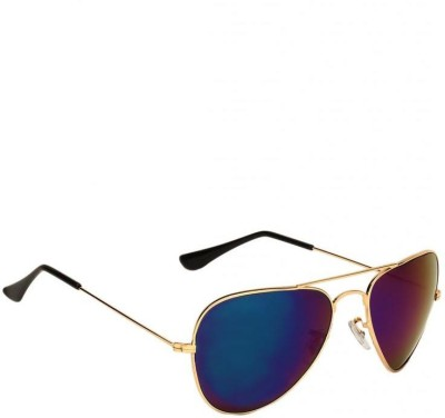 New Zovial Blue Mercury Aviator Sunglasses