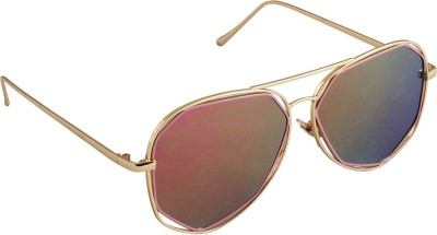 6by6 SG1673 Aviator Sunglasses(Multicolor)