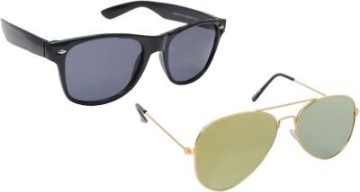 Sellebrity Elegant Combo Yellow Aviator With Wayfare Black Sunglasses Aviator Sunglasses