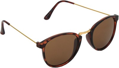 6by6 SG1186 Round Sunglasses(Brown)