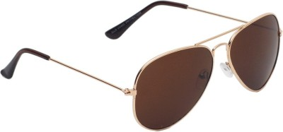 6by6 SG1479 Aviator Sunglasses(Brown)
