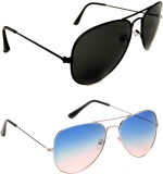 Daller COMBO2 (a) Aviator Sunglasses (Fo...