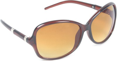 6by6 SG560 Over-sized Sunglasses(Brown)
