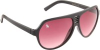 Royal County Of Berkshire Polo Club POLO-03 Over-sized Sunglasses(Red)