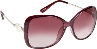 Cristiano Ronnie Purple Rectangular Sunglasses