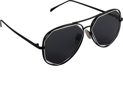 6by6 SG1669 Aviator Sunglasses(Black)
