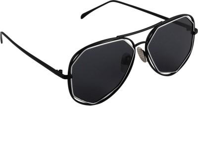 6by6 SG1669 Aviator Sunglasses(Black)