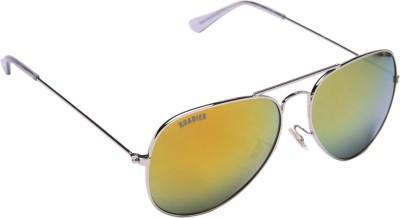 MTV Roadies RD-111-C6 Aviator Sunglasses(Green, Golden)