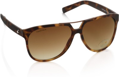 Fastrack P240BR2 Aviator Sunglasses(Brown)