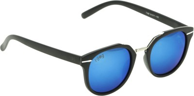 I-GOG Blue Mirrored Round Sunglasses