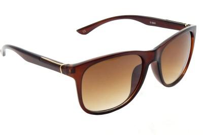 Red Knot S6661-C3-54 Wayfarer Sunglasses(Brown)
