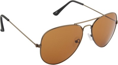 IRAYZ 1248 Aviator Sunglasses(Brown)