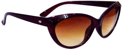 Anti Gravity uv_105 D.Brown Cat-eye Sunglasses