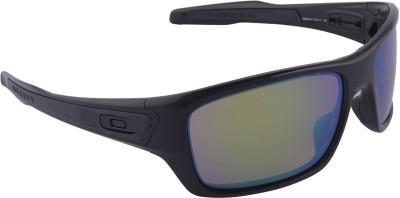 Oakley Turbine Polished Black w/Prizm Shallow Water Polarized Wrap-around Sunglasses