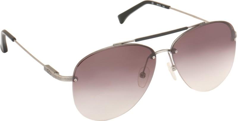 33e5b6bae3 Calvin Klein CK Jeans 102 001 59 S Aviator Sunglasses(Brown) – Buy ...