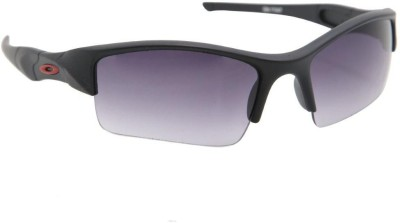 Gansta Gansta GN-11047 Black wrap around sport sunglass with gradient lens Wrap-around Sunglasses(Black)