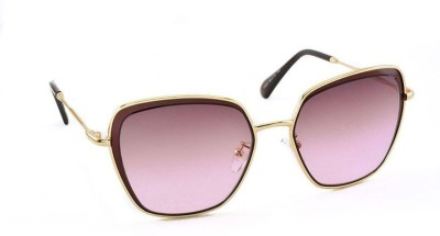 Stacle ST5809 GOLD/BROWN/VIOLET Over-sized Sunglasses(Violet)