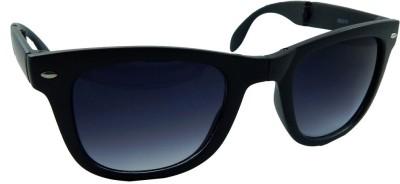 Pocket Folding PF-RB4015-BLACK-BLACK-M Wayfarer Sunglasses(Black)