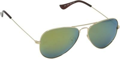 IDEE IDEE-2001-C24P Aviator Sunglasses(Green, Multicolor)