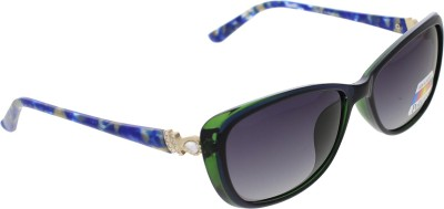Vast WOMENS _POLO_705_C5_BLUE_GREEN Cat-eye Sunglasses(Grey)