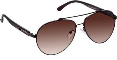 David Blake DBSG389 Aviator Sunglasses(Brown)