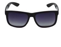 Red Knot MP108-PBLK-PBLK-BLK-52 Rectangular Sunglasses(Black)