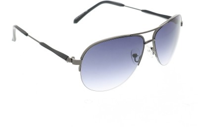 Vast 1818_men_women_matt_grey_gun_aviator Aviator Sunglasses(Grey)