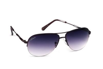 Amaze Grey Gradiant Medium Aviator Sunglasses