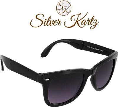 Silver Kartz Folding Delight Wayfarer, Rectangular Sunglasses