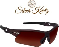 Silver Kartz Unisex Sport Men and Women Sports Sunglasses(Brown)