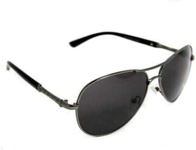 Abqa Unisex Hi Quality Black Hawk Aviator Sunglasses