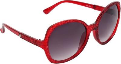 Zyaden SW266 Oval Sunglasses(Black)