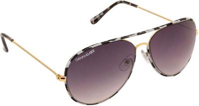 Danny Daze D-602-C7 Aviator Sunglasses(Black)