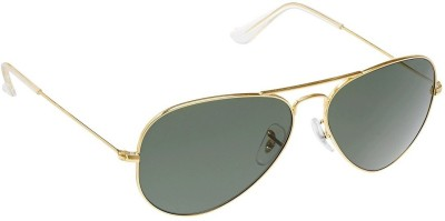 BKD 3025 Aviator Sunglasses(Green) at flipkart