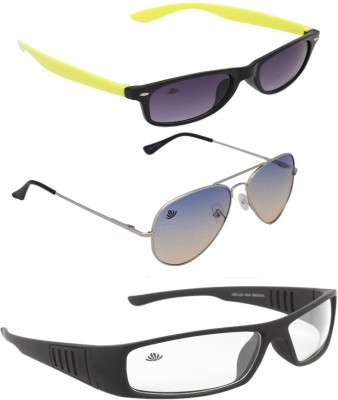ABLOOM Wayfarer, Aviator, Rectangular Sunglasses