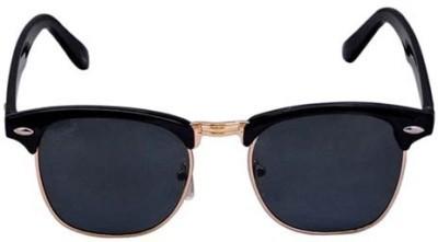 Floz Black Clubmaster Wayfarer Sunglasses Round Sunglasses