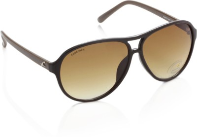 Fastrack P241BR2 Aviator Sunglasses(Brown)