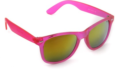 Vast WOW_PREETY_PINK_WFR_MIRROR Wayfarer Sunglasses(Golden)