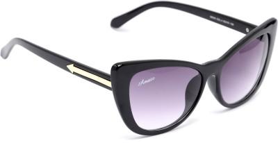 Amaze Medium Black Cat-eye Sunglasses