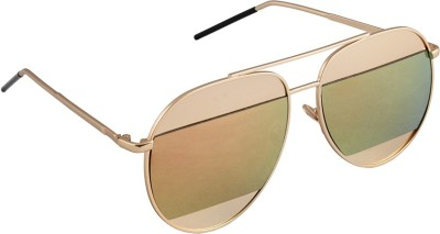 6by6 SG1665 Aviator Sunglasses(Green)