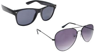 Sellebrity Elegant Combo Classic Black Aviator With Wayfare Black Sunglasses Aviator Sunglasses